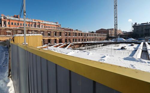 <p>Вид на строящееся здание новой сцены&nbsp;МДТ в Санкт-Петербурге.&nbsp;21 февраля 2018 года</p>