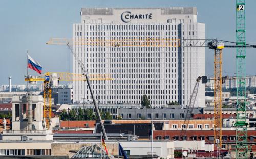 <p>Клиника &laquo;Шарите&raquo; в Берлине, где в отделении интенсивной терапии проходит лечение Алексей Навальный</p>