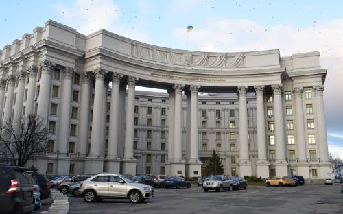 Здание министерства иностранных дел в Киеве.