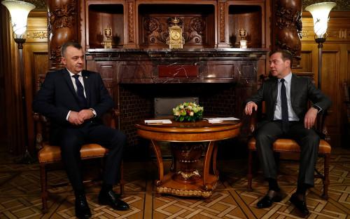 Ион Кику и Дмитрий Медведев