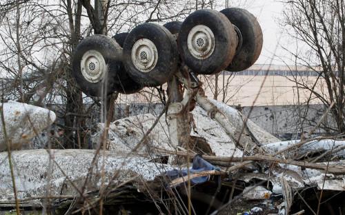 Место крушения польского правительственного самолёта Ту-154 под Смоленском, 10 апреля 2010г.