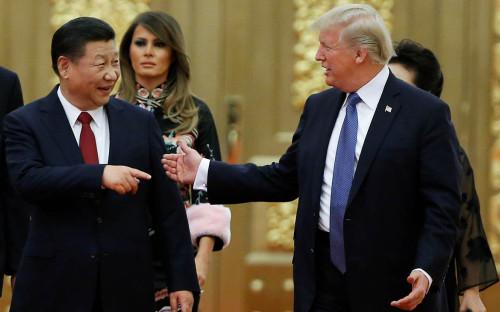 <p>Си Цзиньпин и Дональд Трамп</p>  <p></p>