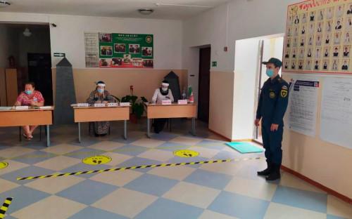 Избирательный участок в Чеченской Республике