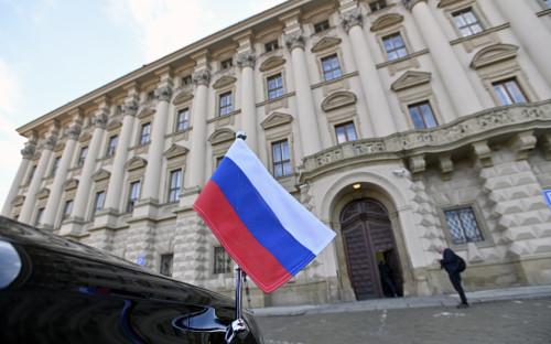 Вид на здание Министерства иностранных дел Чешской Республики