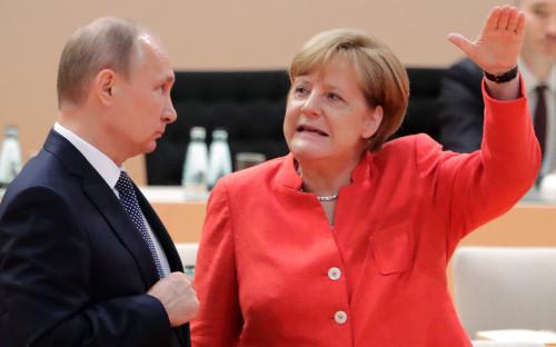<p>Владимир Путин и Ангела Меркель</p>  <p></p>