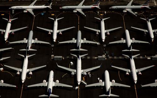 Стоянка самолетов Boeing 737 MAX, полеты которых были запрещены