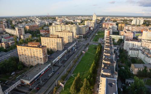 Вид на Воскресенскую улицу в Архангельске
