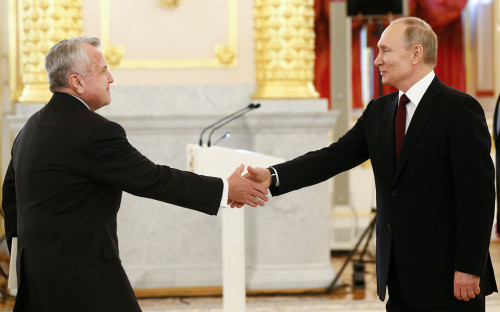 Джон Салливан и Владимир Путин