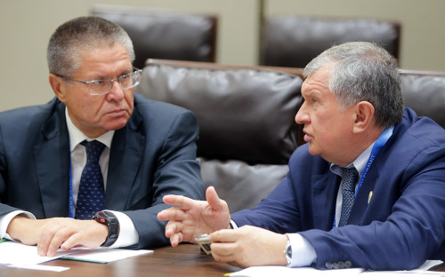 Алексей Улюкаев и Игорь Сечин (слева направо)