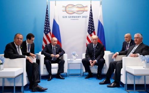 <p>Переговоры Владимира Путина и Дональда Трампа</p>  <p></p>