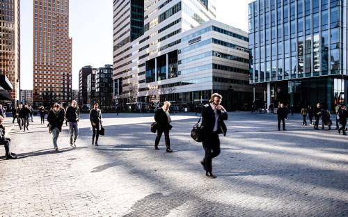 Прохожие на улице Амстердама, Нидерланды