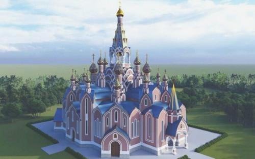 <p>Проект храма при МГУ</p>