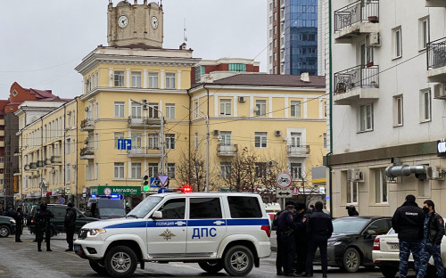 Грозный, место нападения на полицейских