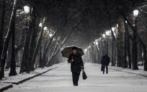 <p>Снегопад в Москве. 1 декабря 2017 года</p>  <p></p>
