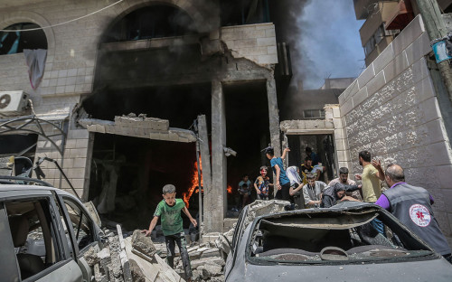 Consequences of Israeli airstrikes on the Gaza Strip