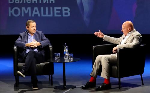 Валентин Юмашев и Владимир Познер