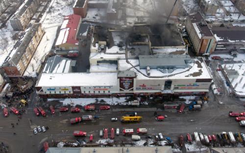 Вид на торгово-развлекательный центр «Зимняя вишня»