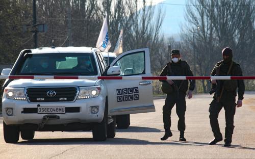 Представители ОБСЕ на границе ДНР и Украины