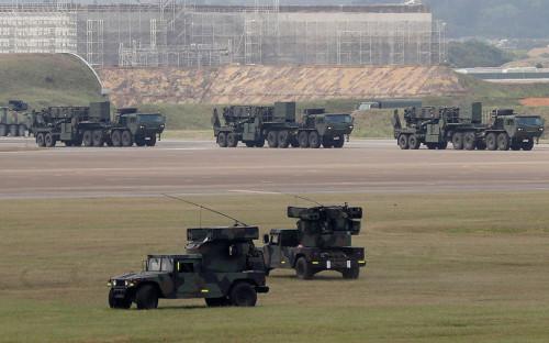 <p>Пусковые установки зенитно-ракетного комплекса MIM -104 Patriot</p>