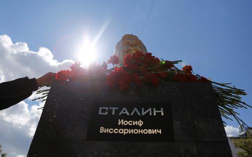 Открытие памятника Сталину в Пензе. 2015 год