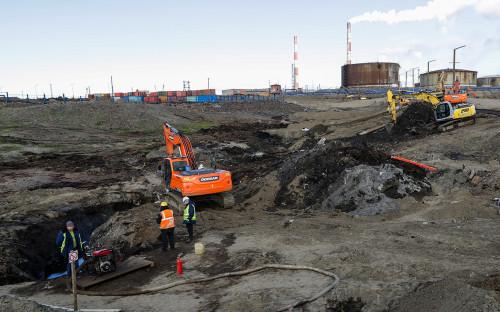 <p>Территория ТЭЦ-3 в Норильске</p>