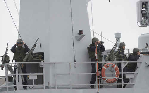 Солдаты ВМС Швеции