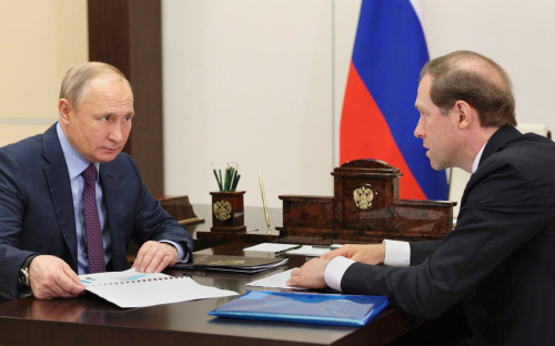 Владимир Путин и Денис Мантуров