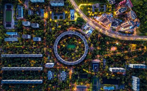 Вид на район Очаково-Матвеевское в Москве