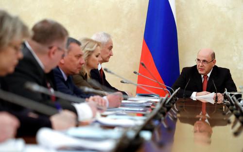 Михаил Мишустин на заседании правительства РФ