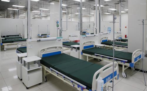 <p>Временный госпиталь в АТЦ &laquo;Москва&raquo;</p>