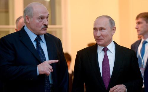 Александр Лукашенко иВладимир Путин (слева направо)
