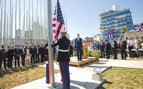 Американский флаг впервые за 54 года подняли надпосольством США вГаване послевозобновления дипломатических отношений