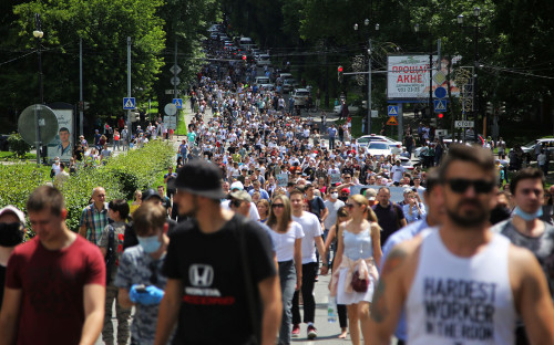 Массовые выступления жителей Хабаровска в поддержку Сергея Фургала
