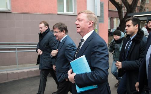 Анатолий Чубайс у Черемушкинского суда