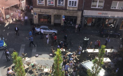 Инцидент произошел у популярного ресторана Kiepenkerl в центре города