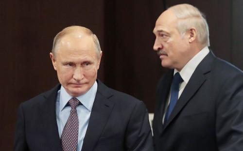 <p>Владимир Путин и&nbsp;Александр Лукашенко</p>