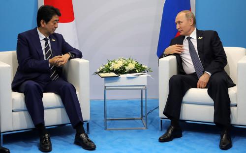 <p>Синдзо Абэ и Владимир Путин. 7 сентября 2017 года</p>  <p></p>