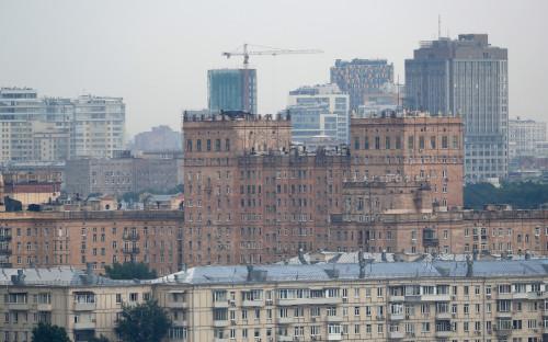 Вид на район Якиманка в Москве