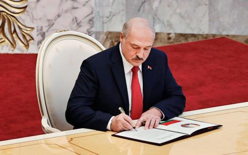 <p>Вступление Александра&nbsp;Лукашенко в должность президента Белоруссии</p>