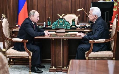 Владимир Путин и Владимир Васильев (слева направо)