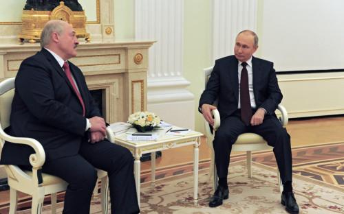 Александр Лукашенко и Владимир Путин