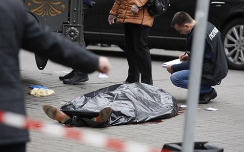 <p>Место убийства Дениса Вороненкова</p>  <p></p>