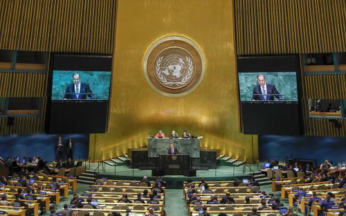 <p>Выступление Сергея Лаврова&nbsp;на 73-й сессии Генеральной ассамблеи ООН</p>  <p></p>