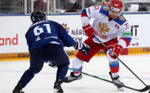 Фото:Матч Россия - Финляндия (Фото: пресс-служба Федерации хоккея страны)