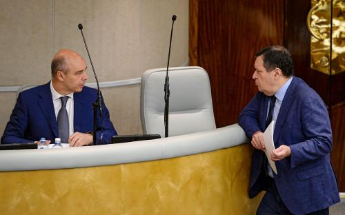 Антон Силуанов и Андрей Макаров