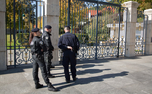 Сотрудники полиции у дома Ивицы Тодорича
