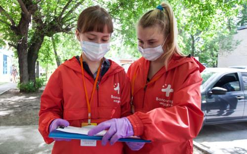Волонтеры акции «Мы вместе»