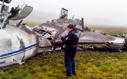 "<p><span style=""line-height: 20.7999992370605px;"">Обломки самолета Falcon 50 в аэропорту Внуково</span></p>"