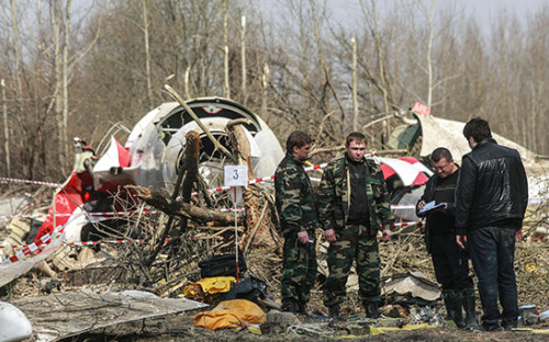 <p>Обломки самолета Ту-154, 2010 год</p>