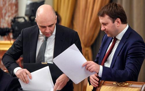 Антон Силуанов (слева) и Максим Орешкин(справа)